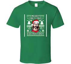 Christmas Sweater Jesus Birthday Boy Retro Funny Christmas sweater ...