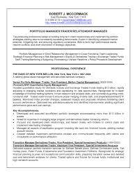Best S Of It Portfolio Manager Resume Portfolio Portfolio For Resume