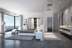 modern master bedroom with bathroom design. Brilliant Modern Well Connected Bedroom With Dressing Bedress Area Having Feeling Of  Vastness But Compactly Designed Throughout Modern Master Bedroom With Bathroom Design O