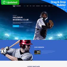 Baseball Websites Templates Soccer Club Website Template For Sports Sites Motocms
