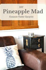 Pineapple Bedroom Furniture A Fun Tropical Pineapple Stenciled Table Upcycle Pillar Box Blue