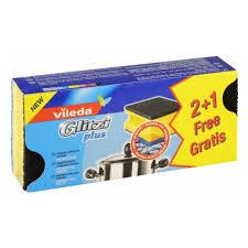 <b>Губка VILEDA Глитци</b> Плюс, для кастрюль 2+1 шт. — купить в ...