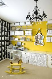 yellow office decor. Yellow Office Decorating Ideas Fabulous Wall Shelves And Accent Enliven The Cool Home Decor S