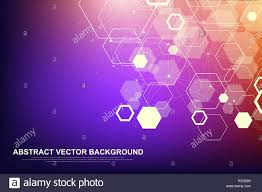 Design For Technology Abstract Hexagonal Background Futuristic Technology