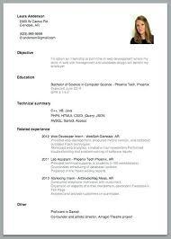 Simple Resume Sample Mesmerizing Sample Simple Resume Colbroco