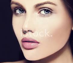 beautiful woman model without makeup with clean skin stock photos