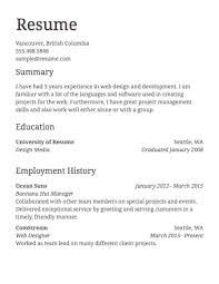 Select Template A sample template of a Left Justified resume