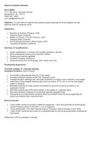 Sample Resume College Professor Resume Sle Instructor