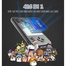 Máy Game D12 Black 416 game in 1 - Tích Hợp Pin sạc Dự Phòng 8000 mah