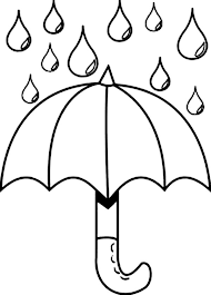 Small Picture Nice Picture of Raindrop and Umbrella Coloring Page Color Luna