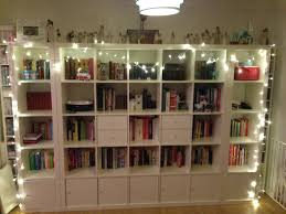 book shelf lighting. bookcase with string lights book shelf lighting n