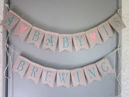 Baby Shower Banner A Baby Is Brewing Tea Party Baby Shower Banner Beer Themed