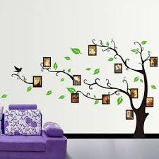image is loading family tree birds photo frame quotes tree wall  on wall art family tree uk with family tree birds photo frame quotes tree wall stickers wall art
