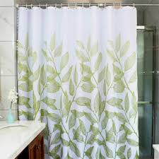 manggou leaves fabric shower curtain waterproof polyester bathroom curtain decorative shower curtain liner with