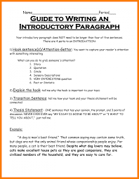4 sentence cover letter hook and thesis statement examples introduction paragraph template