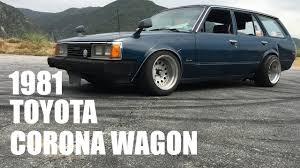1981 Toyota Corona Wagon - Home Made Coilover's - YouTube