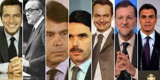 Resultado de imagen de presidentes de la democracia española