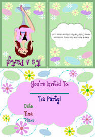 printable make up tea party invitation 1b