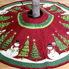 Shop Quilted Christmas Tree Skirt on Wanelo & Christmas Tree Skirt Whimsical Quilted Snowman Ready to Ship CIJ Adamdwight.com