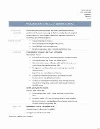 Procurement Category Manager Resume Example Best Of Procurement