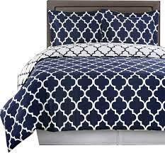 meridian 100 cotton printed duvet cover set navy and white twin twin
