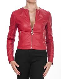 irroratrice leather biker jacket red preview f w 18