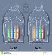 ta b wiring diagram images ta and tb wiring standards on network cable connector wiring diagram stock vector image 57970895