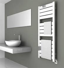 Vega series electric towel warmer, shown in brushed stainless steel