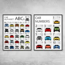 Number Chart For Toddlers Numbers Chart 1 10 Poster Kids Children A4 Educational Wall