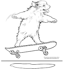 cool skateboard coloring pages skateboarding dog page by diane degroat shelley rotner