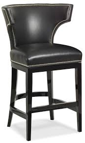 bar and counter stools black leather curved back bar stool