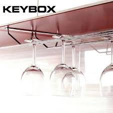 stainless steel glass holder household stemware rack under cabinet hanger for 1 3 ikea