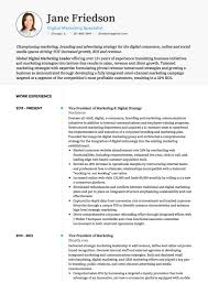 Marketing Cv Examples Templates Visualcv