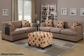 Living Room Furniture Los Angeles Poundex Montreal F7968 F7967 Beige Fabric Sofa And Loveseat Set