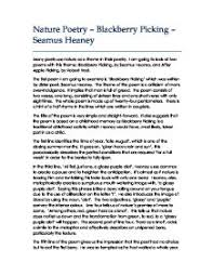 blackberry picking gcse english marked by teachers com page 1 zoom in