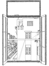 window view drawing. i open my window and this is the house, in depths of central cairo view drawing