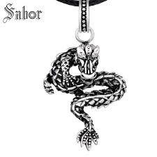 whole fashion chinese dragon pendants necklaces for men charm pendants necklaces jewelry 925 sterling silver letter pendant necklaces horseshoe pendant