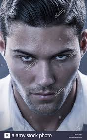 Stubble Facial Hair Style handsome young man with dark beard stubble and modern hairstyle in 5964 by wearticles.com