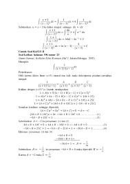 Meliputi contoh soal fungsi, contoh soal komposisi fungsi, contoh soal fungsi invers, dan contoh soal grafik fungsi yang dapat digunakan untuk mempersiapkan ujian nasional. Contoh Soal Fungsi Rasional