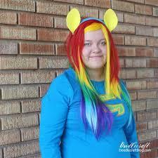 my little pony rainbow dash cosplay costume diy