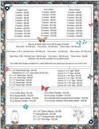 Vinyl Decal Pricing Chart Vinyl Decal Pricing Chart All Cricut Cricut Vinyl