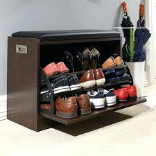 shoe storage ottoman bench. Shoe Storage Ottoman Deluxe Bench Throughout On