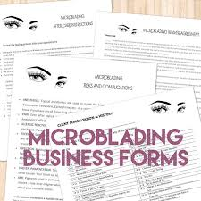 microneedling consent form microblading permanent makeup care forms add your logo
