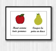 >apple and pear wall print french printable french print   zoom