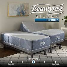 costco king size mattress. Simmons Beautyrest Merritt Silver Hybrid Firm Split King Mattress With Adjustable Base Costco Size A