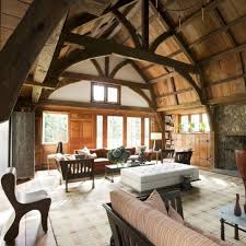 A capacious room made from a converted barn was later added onto the