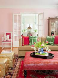 What Color For Living Room Living Rooms That Pop With Color Hgtv