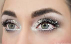 winter makeup tutorial snowy eyes