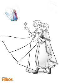 Coloriage La Reine Des Neiges Avec Les Soeurs Elsa Et Anna Dans