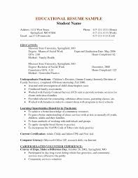 Social Work Resume Template Free Download Social Work Resume Format